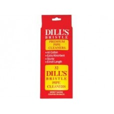Dill's Pipe Cleaners Red Bristle - 5 Packs of 32 Cleaners(160)